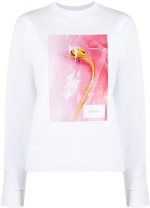 Calvin Klein printed crew neck sweatshirt