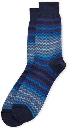 Missoni Ombre Zigzag Crew Socks