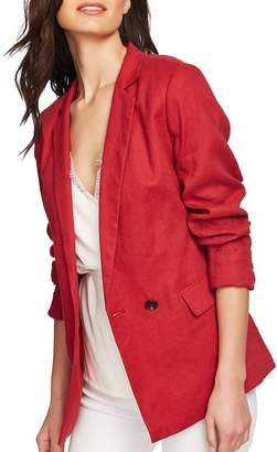 1 STATE 1.STATE Roll Sleeve Linen Blazer