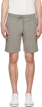 Moncler Grey Side Stripes Shorts $215 thestylecure.com