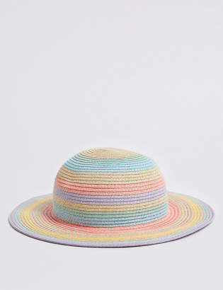 Marks and Spencer Kids Straw Hat with Sun Smart UPF50+ (6 Months - 6 Years)