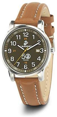 Wrist Armor Men's 'Franklin Mint' Swiss Quartz Stainless Steel and Leather Casual Watch