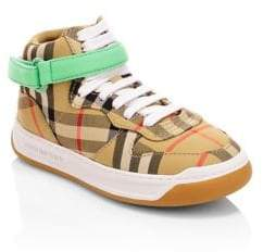 Burberry Kid's Groves High-Top Sneakers