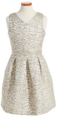 Girl's Ruby & Bloom Leah Jacquard Dress $65 thestylecure.com