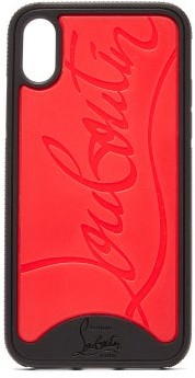 Christian Louboutin Loubiphone Rubber Iphone X/xs Case - Mens - Black Red