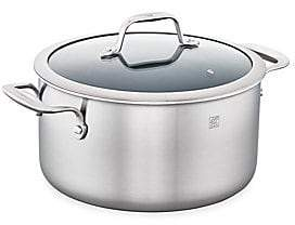 Zwilling J.A. Henckels 6-Quart Stainless Steel 3-Ply Ceramic Non-Stick Round Dutch Oven