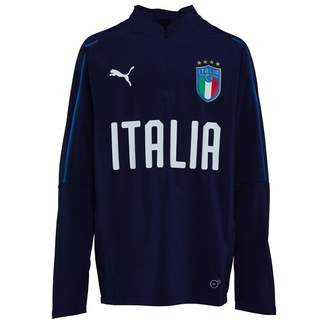 Puma Boys FIGC Italy 1/4 Zip Training Top Peacoat/Blue