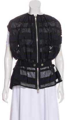 Sacai Semi-Sheer Zip-Up Vest