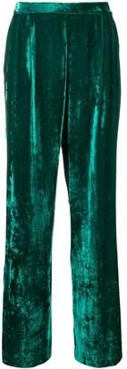 Cavallini Erika wide-leg velvet trousers
