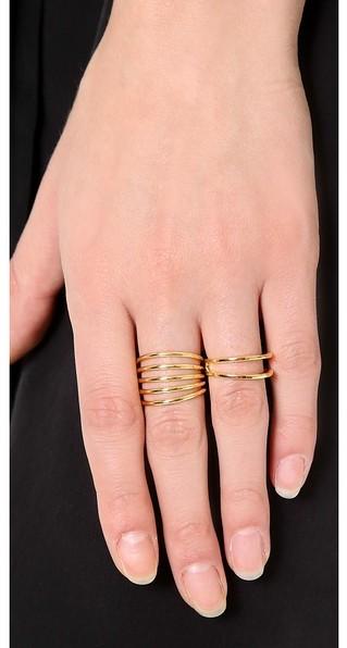 Sarah Chloe Geo Multi Ring