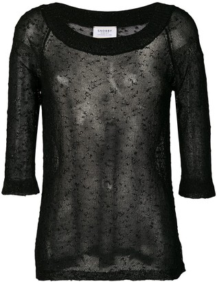 Snobby Sheep sheer structured sweater