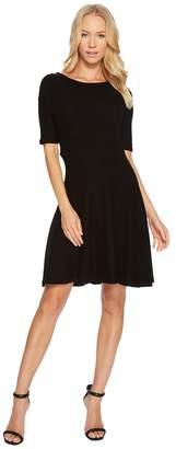Three Dots Brushed Sweater Fit Flare Dress Women's Dress