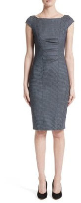 Women's Max Mara Tasso Stretch Wool & Silk Sheath Dress $795 thestylecure.com