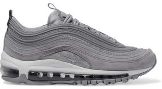 Nike Air Max 97 Glittered Leather And Suede Sneakers - Silver