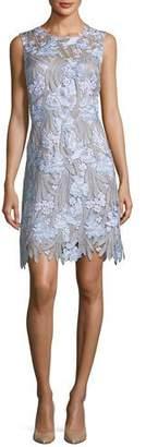 Elie Tahari Tallulah Floral-Applique Sleeveless Dress