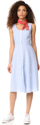 BB Dakota Lavinia Pinstripe Linen Dress $105 thestylecure.com