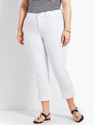 Talbots Woman Exclusive White Denim Straight Leg Crop