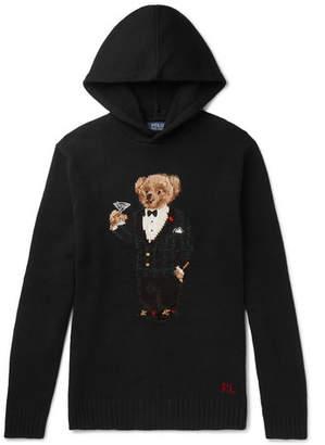 Polo Ralph Lauren Bear-Intarsia Wool Hoodie