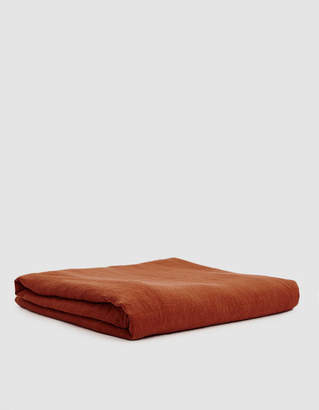 Hawkins New York King Size Simple Linen Duvet Cover in Rust