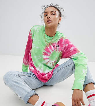 Puma Exclusive To ASOS Long Sleeve T-Shirt With In Tie Dye