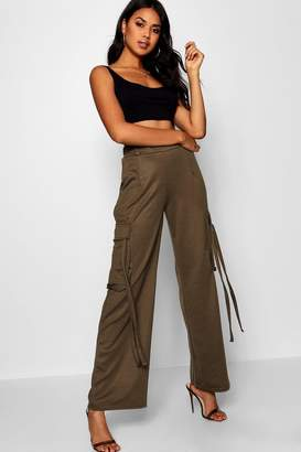 boohoo Cargo Tassel & Pocket Trousers