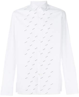 Lanvin embroidered poplin shirt