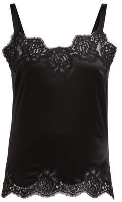 Dolce & Gabbana Lace Silk Satin Camisole - Womens - Black
