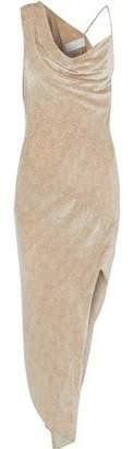 Michelle Mason Asymmetric Draped Velvet Dress