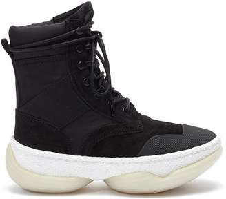 Alexander Wang Alexanderwang 'a1' Chunky Outsole Suede Combat Boots
