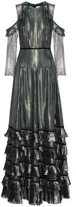 Huishan Zhang Silk-blend lamé gown