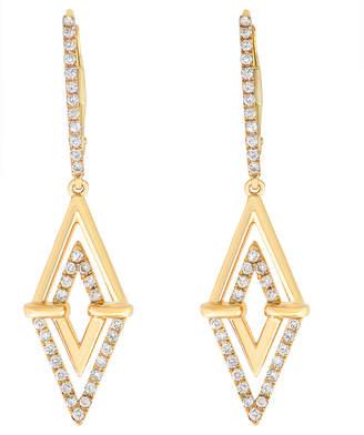 Antandre Aegis Double Triangle Diamond Earrings