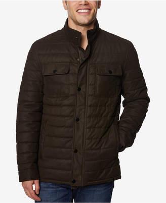 Perry Ellis Men Quilted Microsuede Jacket