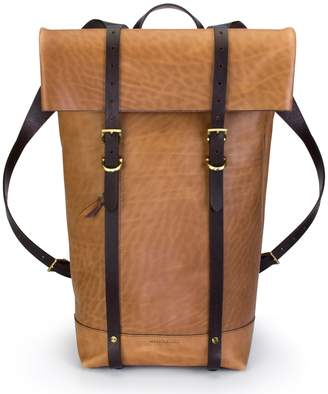 Key Stone Ezra Arthur Keystone Brass Detail Leather Rucksack