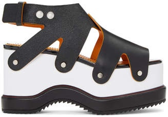 Proenza Schouler Black and White Flatform Sandals