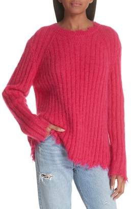 IRO Grunge Destroyed Edge Mohair & Wool Blend Sweater