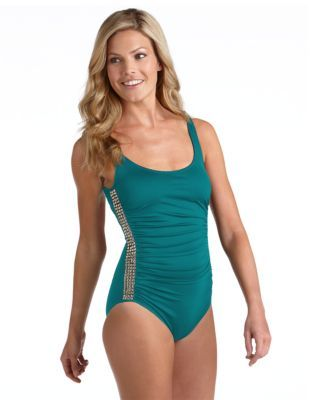 Michael Kors Studded One-Piece Swimsuit