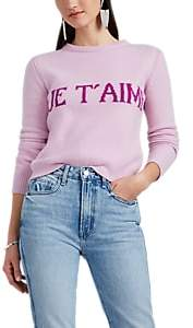 "Alberta Ferretti Women's ""Je T'aime"" Wool-Cashmere Crop Sweater - Pink"
