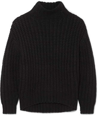 IRO Alladin Oversized Chunky-knit Turtleneck Sweater - Black