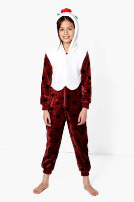 boohoo Girls Christmas Pudding Onesie