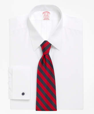 Brooks Brothers Traditional Relaxed-Fit Dress Shirt, Non-Iron Point Collar French Cuff