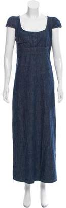 Miu Miu Denim Maxi Dress