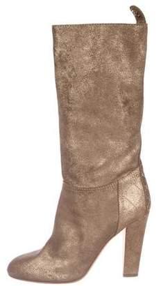 Chanel Metallic CC Mid-Calf Boots