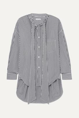 Balenciaga New Swing Striped Cotton-poplin Shirt - Black