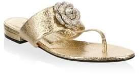Oscar de la Renta Isla Leather Thong Sandals