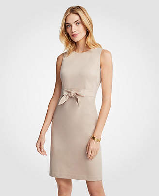 Ann Taylor Cotton Sateen Tie Front Sheath Dress