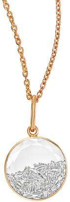 Moritz Glik Double White Sapphire and Diamond Shaker Necklace - Rose Gold