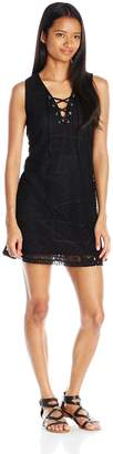 Almost Famous Women's Fully Lined Lace Dress