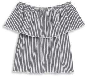 Pinc Premium Girl's Striped Off-The-Shoulder Blouse
