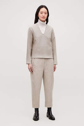 Cos WOOL TWISTED-SEAM TROUSERS