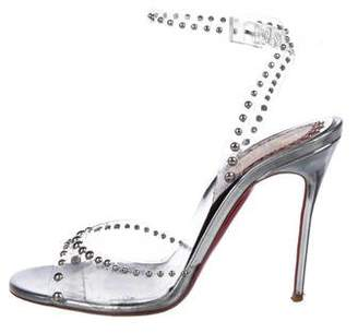 Christian Louboutin PVC Ankle Strap Sandals